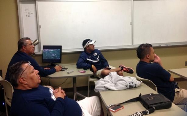 Los coaches de Borregos Toluca en clínica en Baylor University