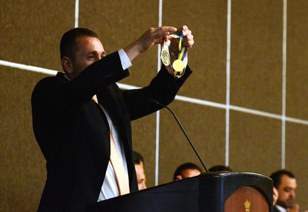 Horacio García y sus dos medallas de oro