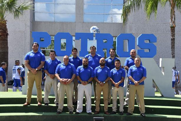 El staff de coacheo de Potros ITSON para el 2018