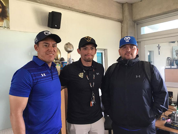 HC Hugo Lira, HC Pedro Ramírez y coach Fernando Ruiz